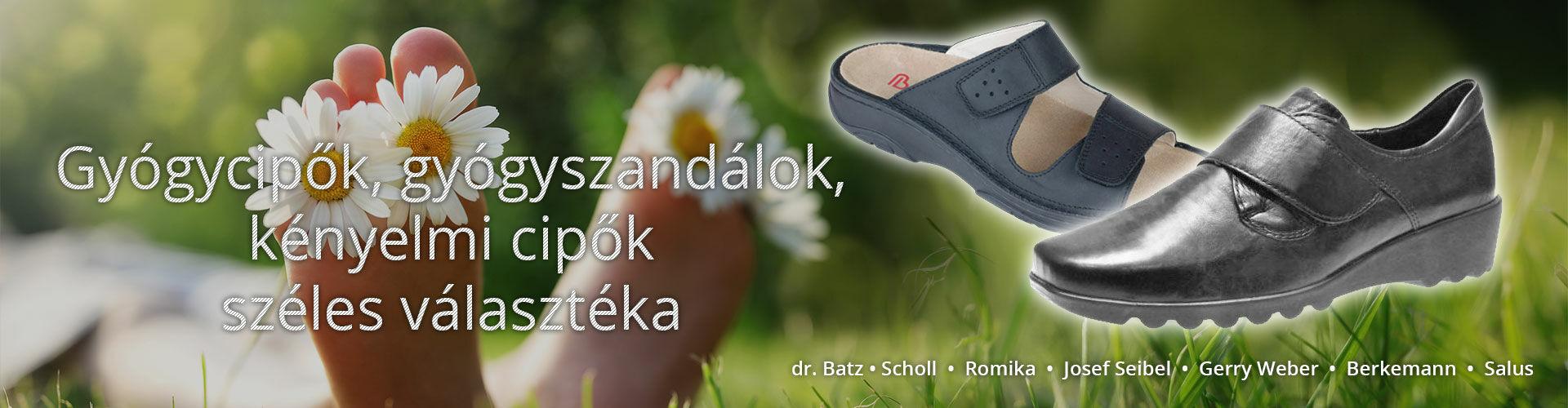 Gyógycipők, gyógyszandálok, kényelmi cipők