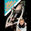 A KiroMED Zéta a legfejlettebb, orvostechnikai minősítéssel rendelkező mechanikus gravitációs gerincnyújtó pad. Az acélvázas szerkezetnek és a fejlesztéseknek köszönhetően megnövelt teherbírással és élettartammal rendelkezik.