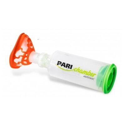 A Pari Chamber egy antisztatikus, szelepes spacer, mely meghatározott mennyiségű, spray formában kapható inhalációs gyógyszer megbízható és könnyű bevitelére alkalmas gyermekek részére maszkon keresztül.