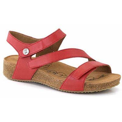 Josef Seibel Tonga 25 red női kényelmi szandál bőr felsővel, bőrrel bélelve, bőr talpbetéttel, Pu és parafa külső talppal