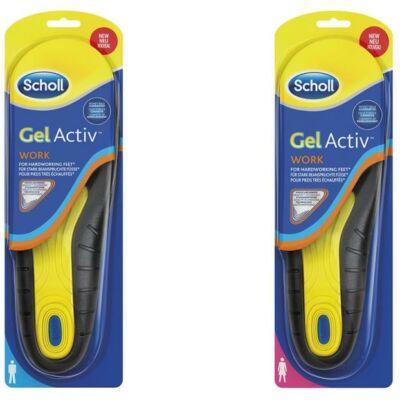 Scholl Gel Aktív Work. Különleges, zselés talpbetét. Tökéletesen megfelel azok számára, akik egész napjukat álló helyzetben töltik. Megelőzi a láb fáradtságát, érzékenységét.