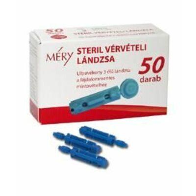 Ajánlott a MÉRY 2, MÉRY PLUSZ, MÉRY URight, MÉRY mini Vércukormérő készülék csomagban megtalálható MÉRY Ujjbegyszúró készülékhez.