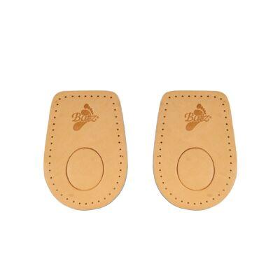 Dr. Batz 965 Sarokemelő párna bőr felsőrésszel, latex hab öntapadós alsórésszel, női és férfi cipőkhöz egyaránt
