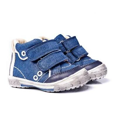 MEMO babacipő NODI, sötétkék. 19-21-es méretekben kapható, egy tépőzáras; puha, rugalmas talpú zárt cipő a legkisebbeknek ahidegebb, esősebb napokra.
