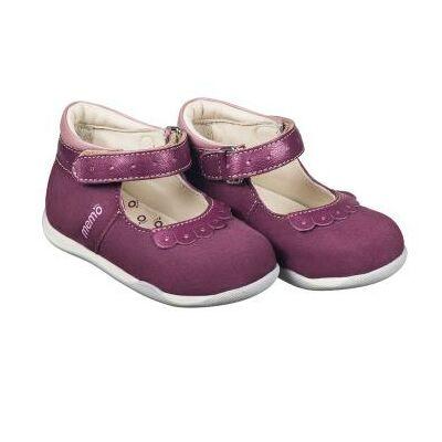 MEMO babacipő FIONA, lila színű.  18-21-es méretekben kapható, egy tépőzáras; puha, rugalmas talpú zárt cipő a legkisebbeknek ahidegebb, esősebb napokra.
