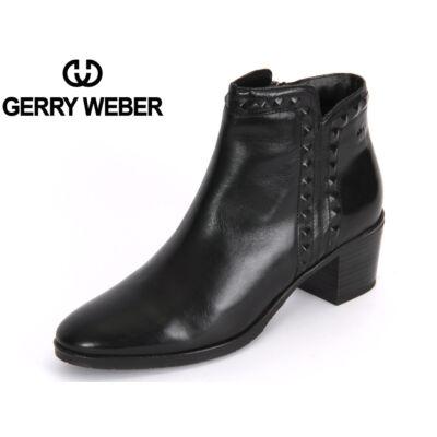 Gerry Weber Casey 04 black bőr női kényelmi bokacsizma textil meleg béléssel