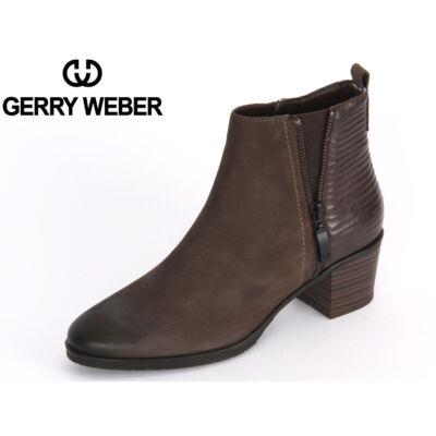 Gerry Weber Casey 01 anthrazit bőr női kényelmi bokacsizma textil meleg béléssel