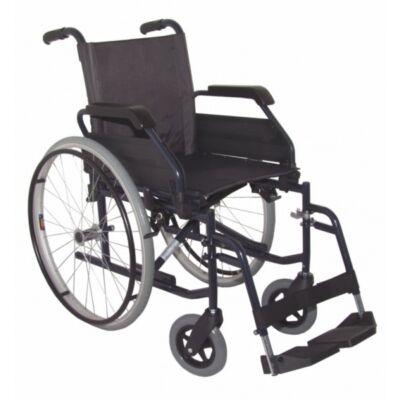 B 4200 önhajtós mechanikus, összecsukható kerekesszék, hátrahajtható kartámasszal, összecsukható vázzal, rögzítőfékkel, gyöngyvászon üléstámlával és ülőlappal