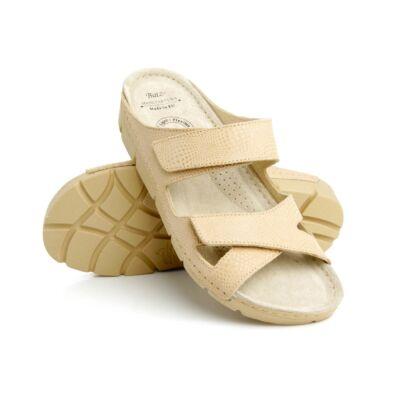 Batz Emilia női bőr gyógypapucs, tépőzáras pánttal, könnyű és rugalmas talpszerkezettel, több színben