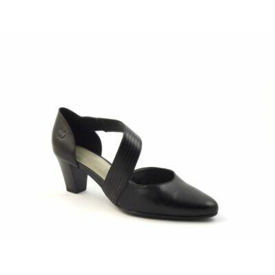 Gerry Weber Laura 06 black női bőr magassarkú kényelmi félcipő, bőr felsőrésszel, bőr és szintetikus béléssel