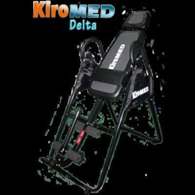 A KiroMED Delta orvostechnikai eszköz minősítéssel rendelkező összecsukható gravitációs gerincnyújtó pad. Megerősített vázszerkezettel, vastag, kényelmes fekvőfelülettel, állítható fejtámlával és biztonságos lábbefogó szerkezettel rendelkezik.