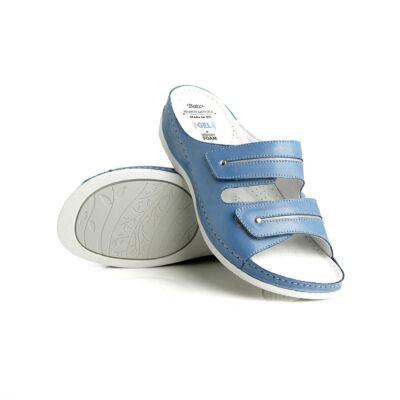 A Dr. Batz Lia valódi bőrből készült női papucs zselés talppal és anatómiai kialakítású lábággyal, 2 tépőzárral és csúszásmentes járófelülettel rendelezik. Több színben kapható!