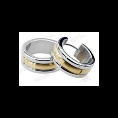 Mágneses fülbevaló (arany-ezüst, karika)