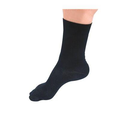 """Silver Socks Long"" ezüstszálas zokni fekete (35-38)"