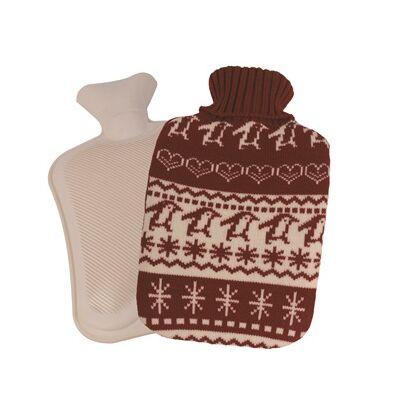 Melegítő palack (Vivamax/téli mintás/bordó/2L)