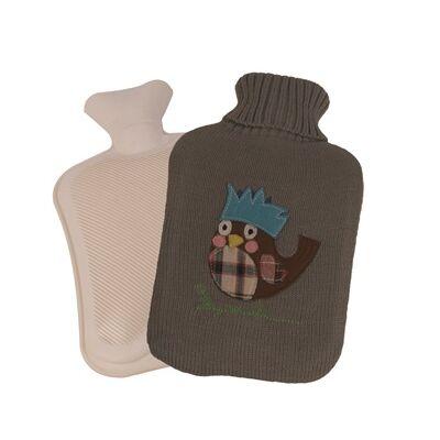 Melegítő palack (Vivamax/madárka/szürke/2L)
