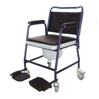 WC fölé helyezhető, illetve eltávolítható tartállyal használható acélcső vázszerkezetű, könnyen tisztítható eszköz kórházi és otthoni betegápoláshoz, kerekekkel és lábtartóval, önellátásra tartósan képtelen mozgáskorlátozottak számára.