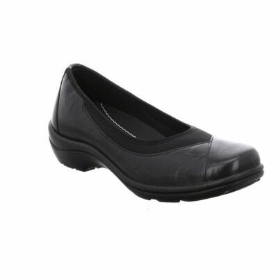 Romika Cassie 21 blackn női bőr kényelmi cipő, bőr felsőrésszel, textil béléssel, tökéletesen illeszkedő rugalmas szegéllyes